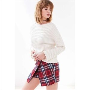 NWT UO Cooperative Plaid Wrap Skort